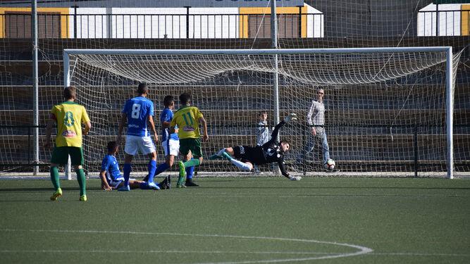Jorge consiguió el 1-0 a los cuatro minutos de partido aunque posteriormente el Xerez DFC remontó.