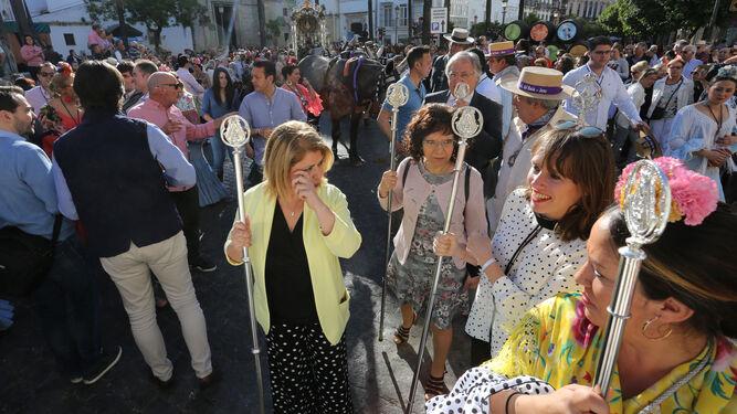 El calor se une a Jerez en su camino hacia la Blanca Paloma