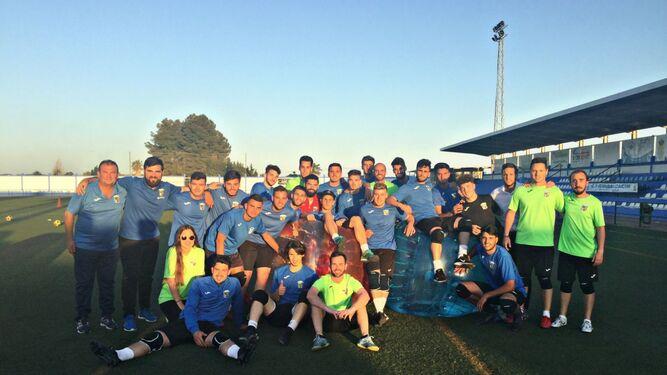El Guada realizó el pasado miércoles el último entrenamiento de la temporada y luego se marchó de barbacoa.