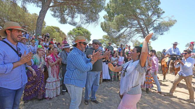 Al Simpecado de Jerez por bulerías, en Marismilla