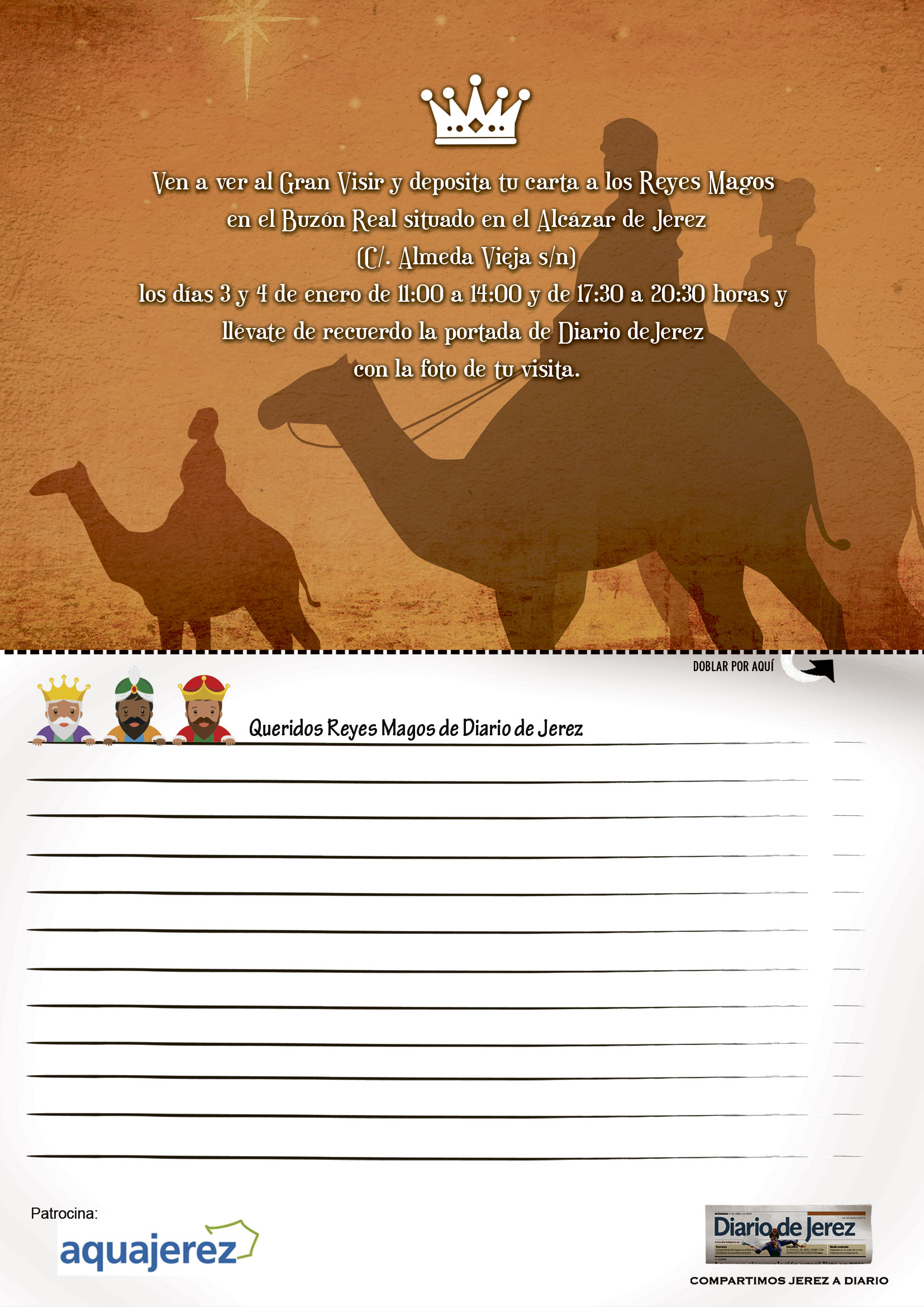 Dias De Reyes Magos Descargar descargue la carta para los reyes magos en la web de diario