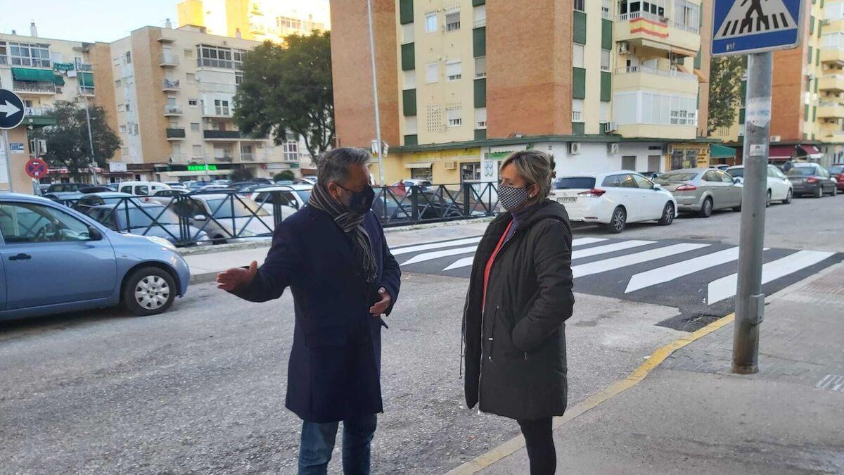 Nuevo paso de peatones en Princi Jerez